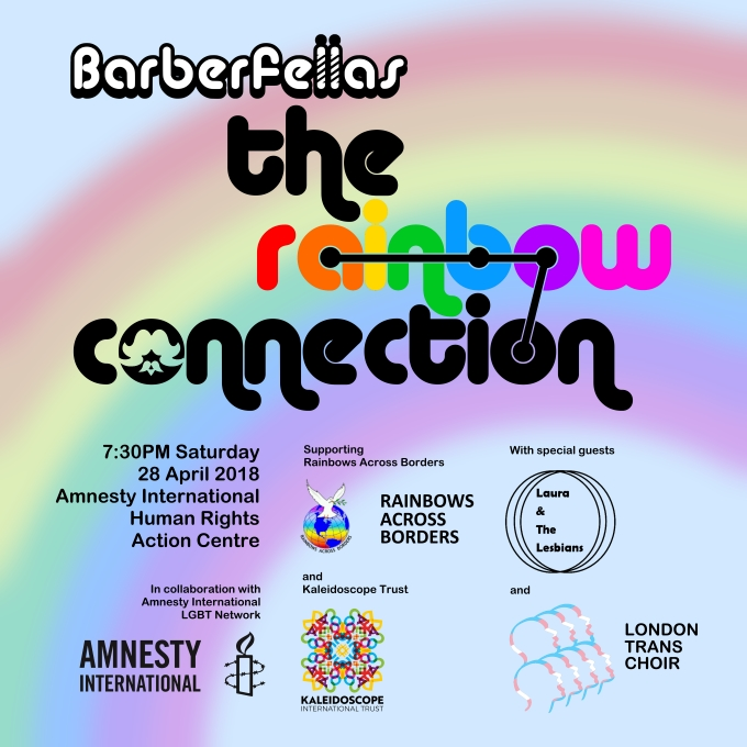 Barberfellas spring concert 2018 Rainbow Connection